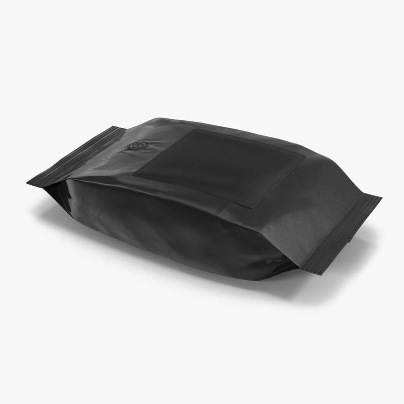 Ground Coffee Bag Plastic 3d model 00.jpg