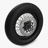 3d motorcycle wheel