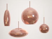 Tom Dixon Copper Shade Pendant Set