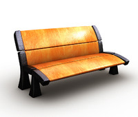 bench wood cartoon obj free
