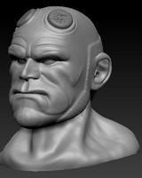 hellboy head 3d dxf