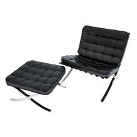 3d barcelona chair mies van model