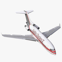 3d boeing 727-100 private kalitta