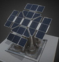 solar power tower 3ds