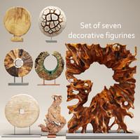 3d carved sculpture model