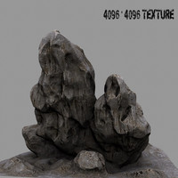 3d mountain rock model