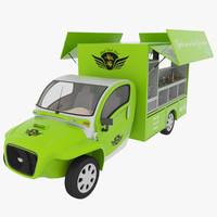 3d kim fly food truck