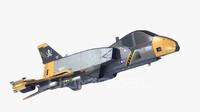 starfighter navy pbr 3d obj