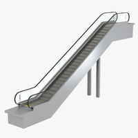 kone travelmaster escalator 3d model