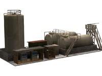 diesel pump station 3d model