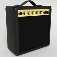 pbr uv-textured guitar amplifier 3ds