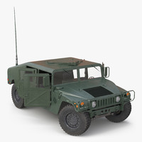 3d humvee rigged model
