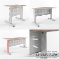 3d model office desks unisma alfa