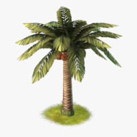 cartoon palm 3d model