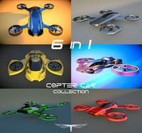 3d max 6 1 copter car