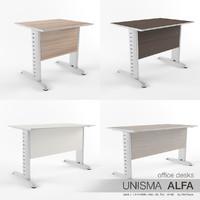 office desks unisma alfa 3d max