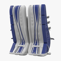 3d 3ds hockey goalie leg pads