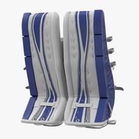 3d 3ds hockey goalie leg pads