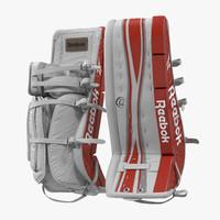 hockey goalie leg pads 3d model