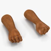 3d model african man hands 2
