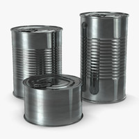 tin cans set 3d obj
