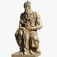 3d moses michelangelo model