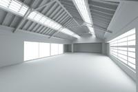warehouse scene 3d model