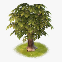 cartoon tree 04 3d max