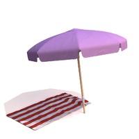 3d umbrella towel meshsmooth model