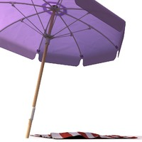 3d umbrella towel meshsmooth model