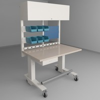 height adjustable workbench 2 3d model