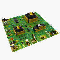 new circuit board 3d model