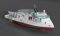 seven viking ships 3d model
