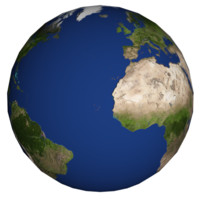 3d rotating earth