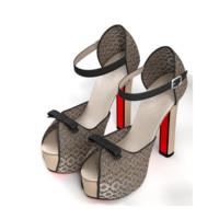 3d model heel sandals