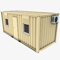 3d obj office container