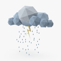 cloud storm lightning 3d model
