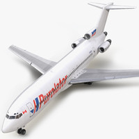 3d boeing 727 200 purolator model