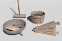 blacksmith equipment 3d model