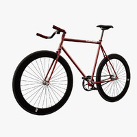 photorealistic fixed bicycle 3d max