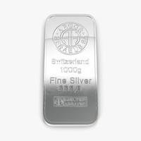 silver bar 1000g 3d model