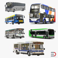buses 4 bus 3d model