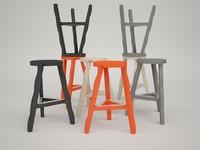 stool offcut 3d 3ds