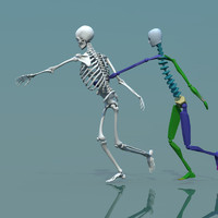 human skeleton combine biped 3d max
