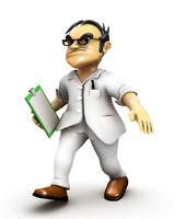 3d doctor cartoon