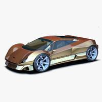 gold concept 3d obj