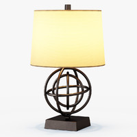 circles table lamp 3d 3ds
