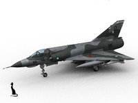 pakistan mirage iii e 3d model