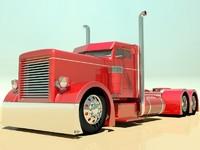 semi truck custom 3d max