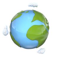 3d model stylized cartoon planet earth